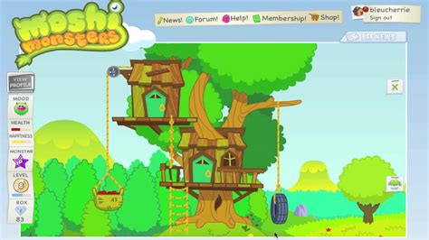 Getting a treehouse home [moshi monsters] - YouTube